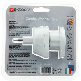 SKROSS Combo Steckeradapter World to Italien